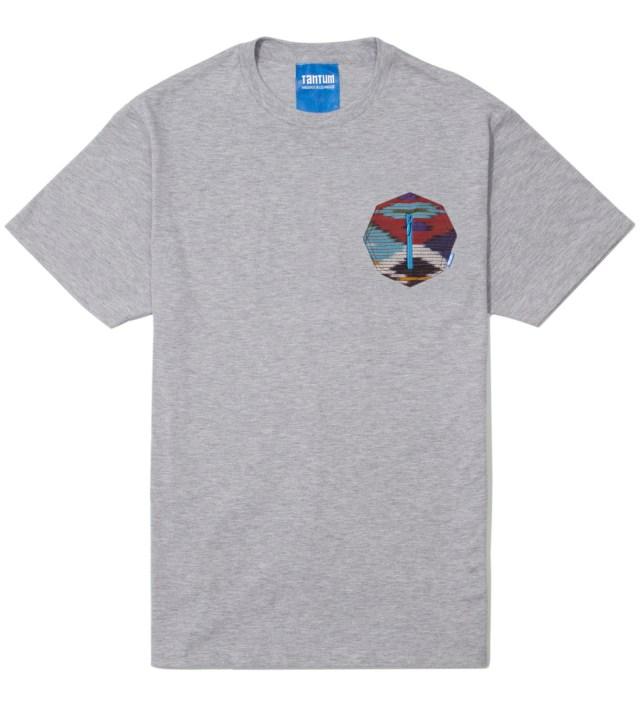 Tantum Heather Grey Ikat 8 Sides Pocket T-Shirt