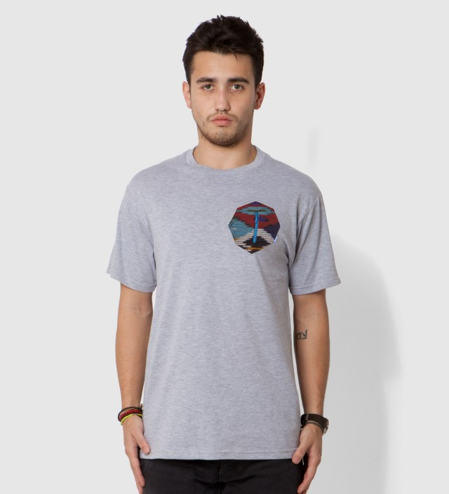 Tantum Heather Grey Ikat 8 Sides Pocket T-Shirt