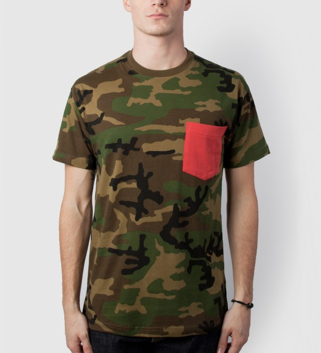 10.Deep Woodland Peyote Pocket T-Shirt