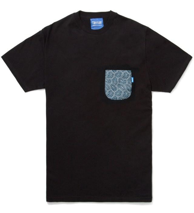 Tantum Black Bandana Blue Paisley T- Shirt