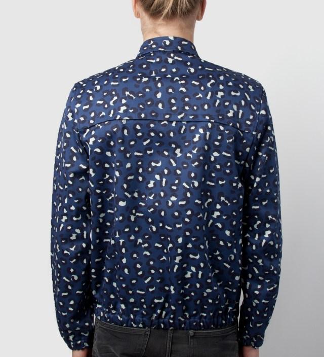 A.P.C. Indigo Leopard-print Preppy Jacket