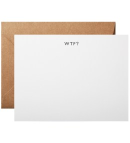 Terrapin Stationers WTF? Note Cards (6 Pack) Picture