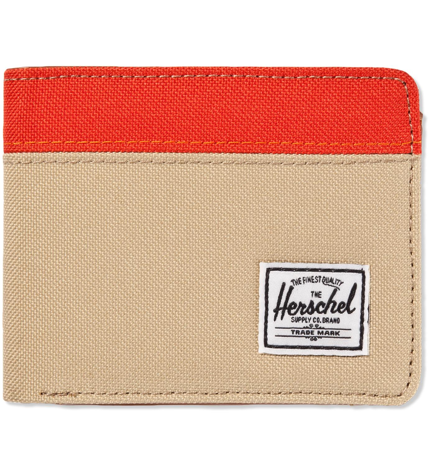 Herschel Supply Co. Khaki/Camper Orange Hank Wallet