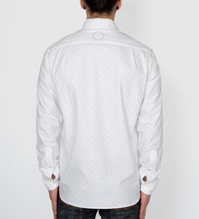 OWNSAKE White Japanese Polka Dot Oxford Shirt