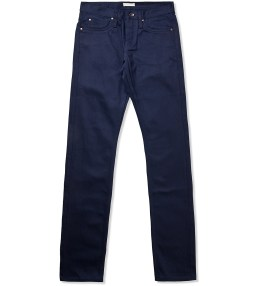The Unbranded Brand UB108 Skinny Fit 13oz Raw Navy Chino Picture