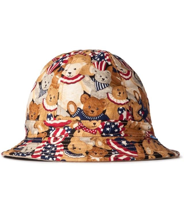 Tantum Patriotic Bear/3 Color Desert Camo Reversible Liberty Bucket Hat