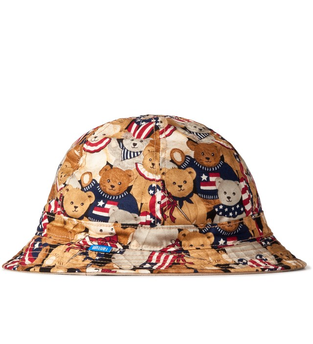 Tantum Patriotic Bear/3 Color Desert Camo Reversible Liberty Bucket Hat
