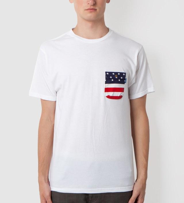 Tantum White American Flag Chief Pocket T-Shirt