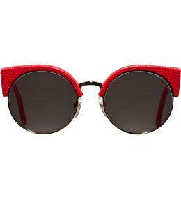 SUPER BY RETROSUPERFUTURE Red Lizard Illaria Sunglasses Picture