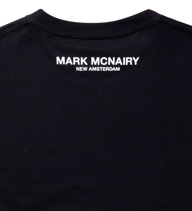 Mark McNairy for Heather Grey Wall Black Hey Hey My My Print T-Shirt