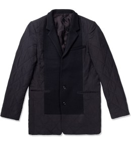 Munsoo Kwon Black Two Button Quilted Jacket Picture