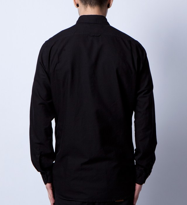 STAMPD Black Oxford Embroidery Detail Shirt