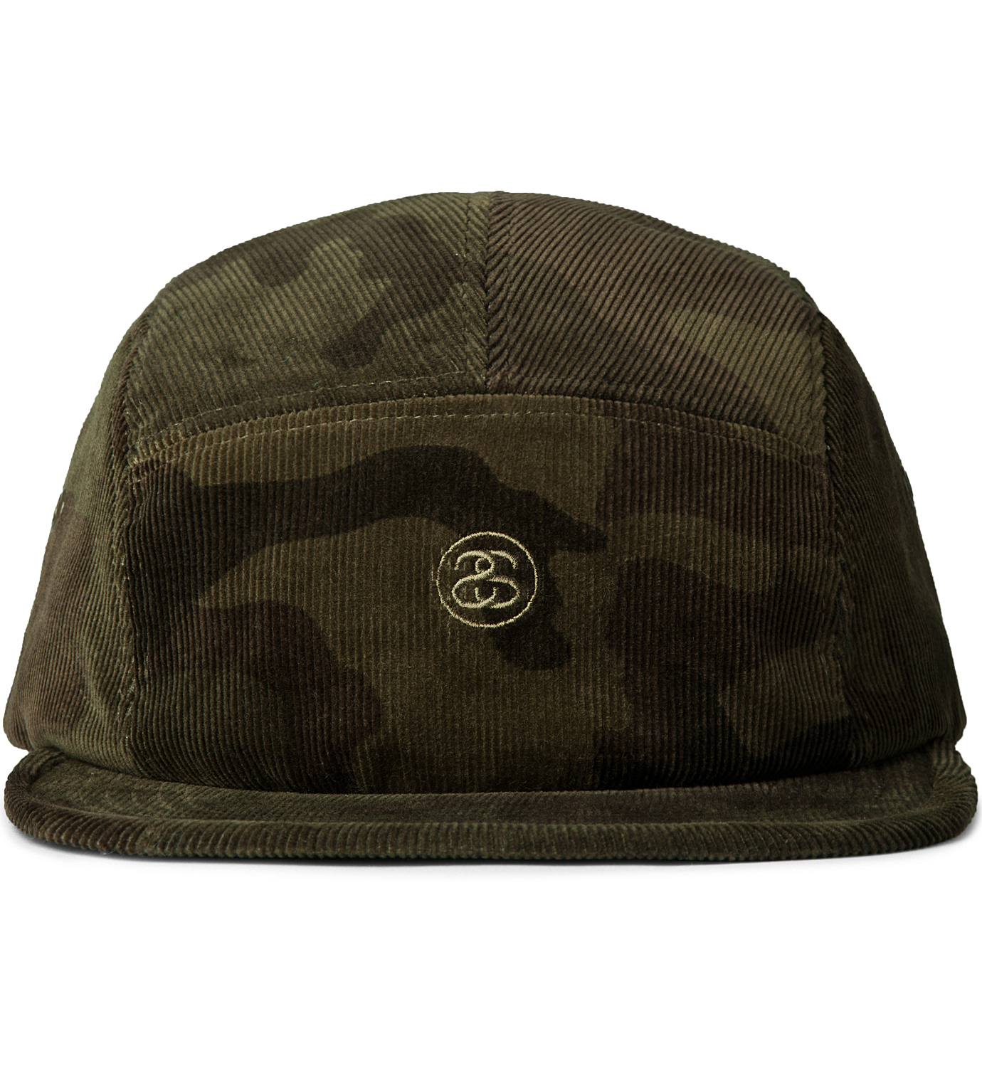 Stussy Deluxe Olive Camo Camp 1980 5 Panel Hat