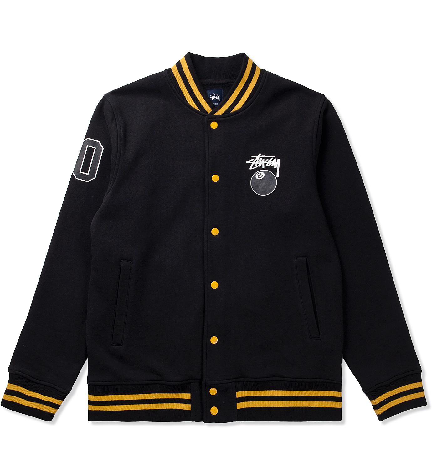Stussy Black 8 Ball Varsity Jacket