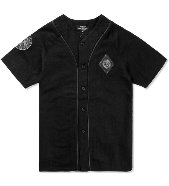 AURA GOLD Black Legends 88 Baseball Jersey Shirt