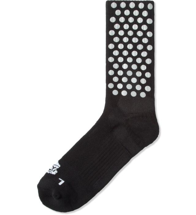 ICNY Black Half Calf Reflective Performance Socks