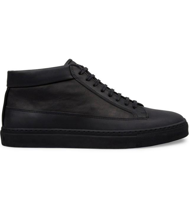 ETQ All Black Waxed Nubuck Mid Top Shoe