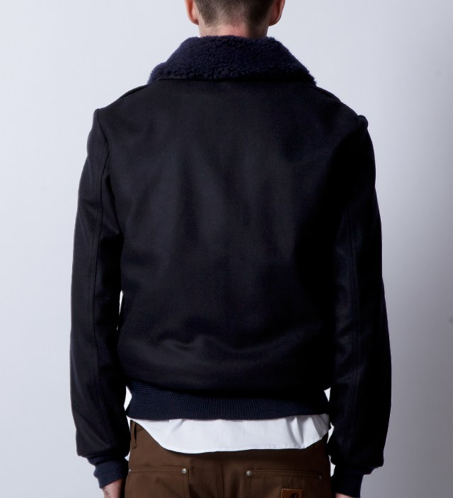 Patrik Ervell Navy/Black Aviator Jacket