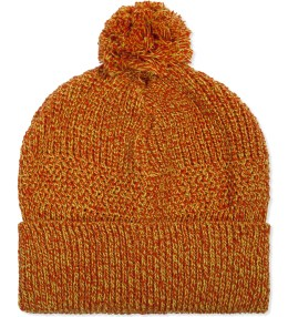 GARBSTORE Orange Pom Pom Knit Beanie Picture