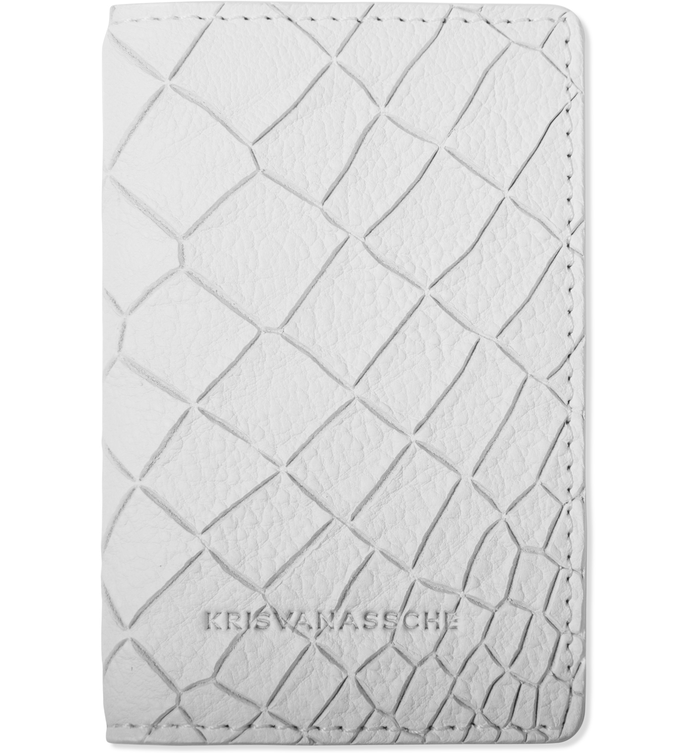KRISVANASSCHE White Credit Card Holder