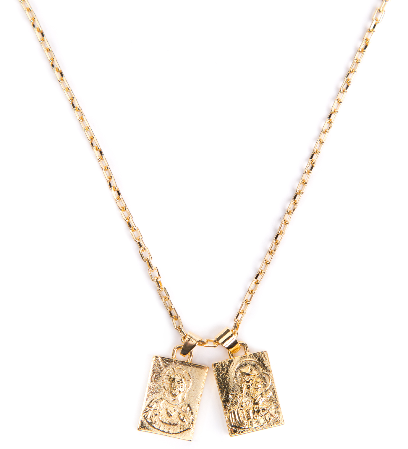 Gold Scapular Necklace: Mister Gold Mr. Scapular Necklace
