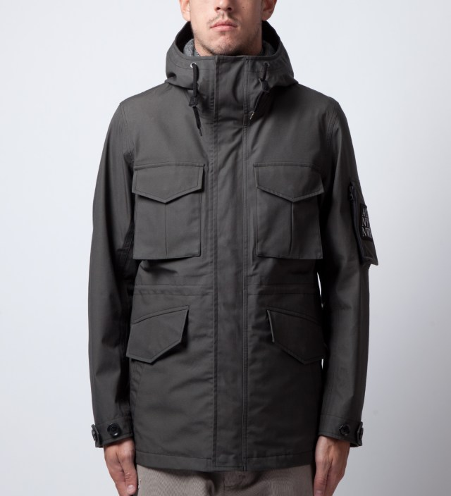 wings + horns Charcoal wings+horns x nanamica x Ace Hotel Zip Front Hood Parka