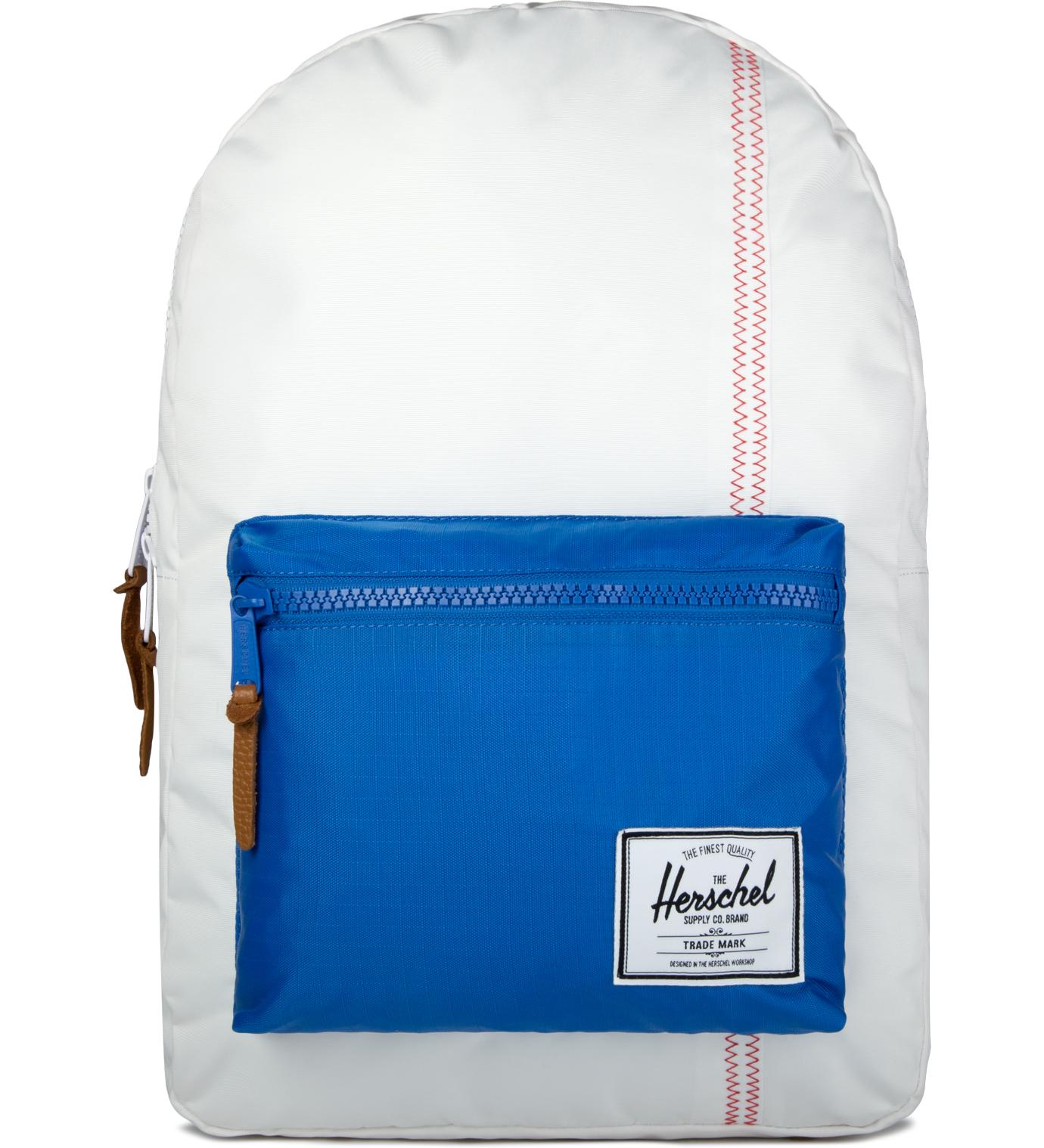 Herschel Supply Co. White/Regatta Blue/Cardinal Yellow Settlement Backpack