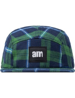 after midnight NYC Green Am Logo (White Label) Flannel Camp Cap Picture