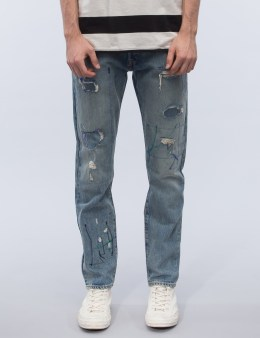 Levi's Woodie Destruction 501 Customized Tapered Jeans Picture