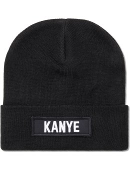 LES (ART)ISTS Black Kanye Patch Beanie Picture