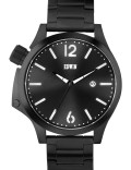 EDWIN Watch Black With Black Dial Brook Picture