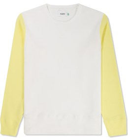 Aloye White/Yellow Study Color Block Sweater Picture