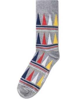 Richer Poorer Grey Swindler Socks Picture