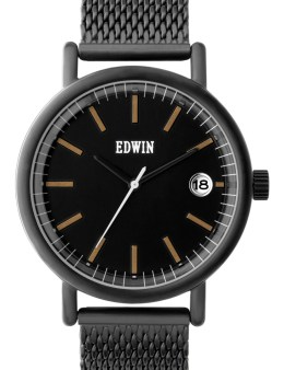 EDWIN Watch Black With Black Dial Epic Picture