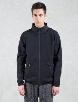 REIGNING CHAMP Stretch Nylon Stow Away Hooded Jacket Picture