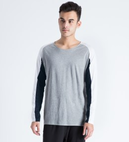 Shades of Grey by Micah Cohen Grey/White L/S Baseball T-Shirt Picture
