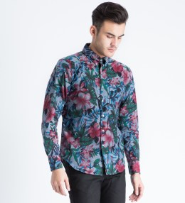 Naked & Famous Indigo Big Tropical Regular Shirt Picture