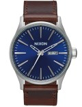 Nixon Sentry Leather with Blue Dial Picture