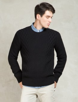 A.P.C. Noir College Pull Sweater Picture