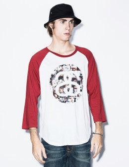 Stussy Red Photo Link Raglan Picture