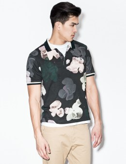 Wood Wood Tropical Black Penn Polo Shirt Picture