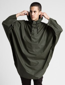 RAINS Green Poncho Picture