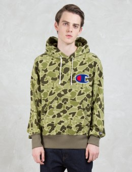 Champion Reverse Weave Applique Logo Hoodie Picture