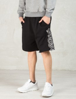 PHENOMENON Black Cutoff Sweatshorts Picture