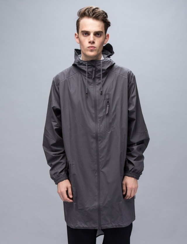 Rains Grey Parka Coat | HBX.