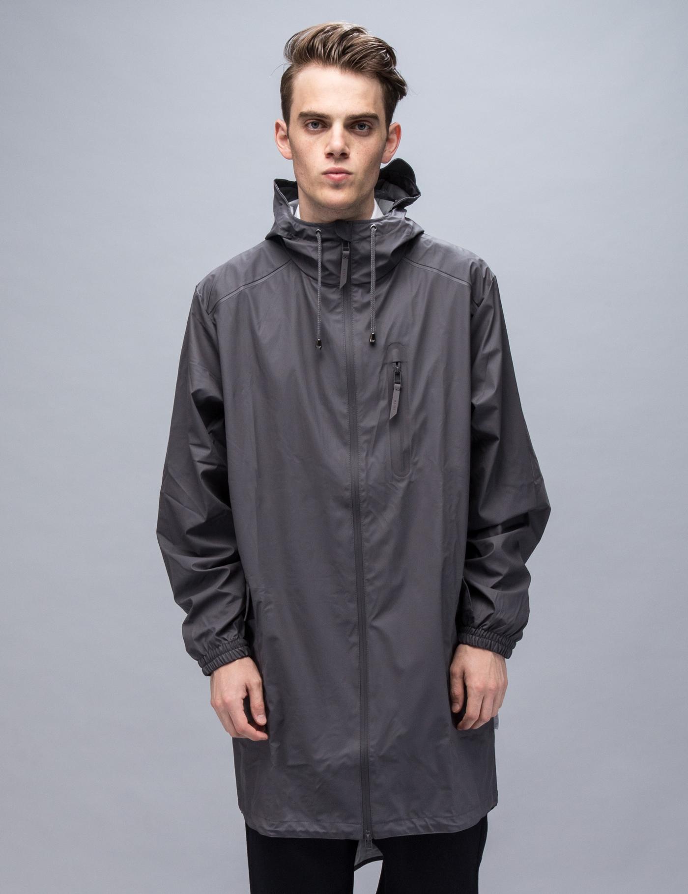 RAINS Grey Parka Coat | HBX.
