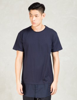 Still Good Navy Trompe L'oeil Shirt Tail Layered T-shirt Picture