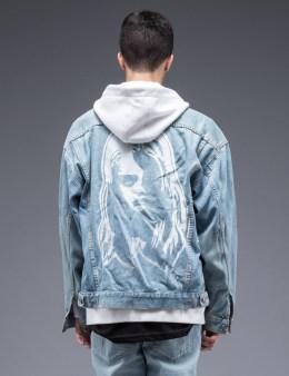 SAM by Warren Lotas Faded Blue Denim Jacket Style E (Size L) Picture