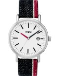 EDWIN Watch Indigo Selvedge Denim Band With White Dial Epic Picture