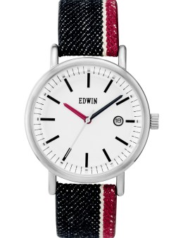 EDWIN Watch Indigo Selvedge Denim Band With White Dail Epic Picture
